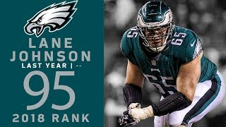 #95 Lane Johnson (OT, Eagles) | Top 100 Players of 2018 | NFL