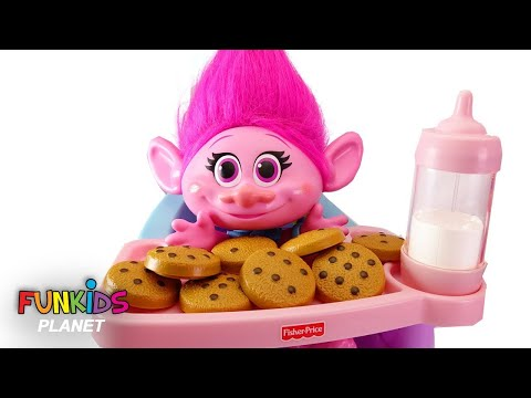 Learn Colors Videos for Kids: Trolls Poppy High Chair & Cookies and Milk With Paw Patrol Counting
