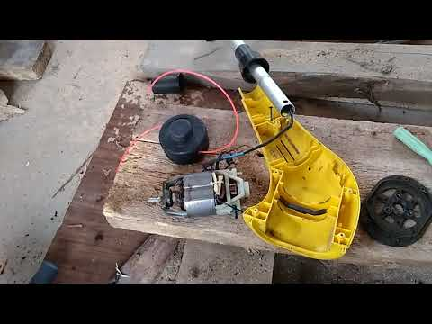 Как снять катушку с электротриммера