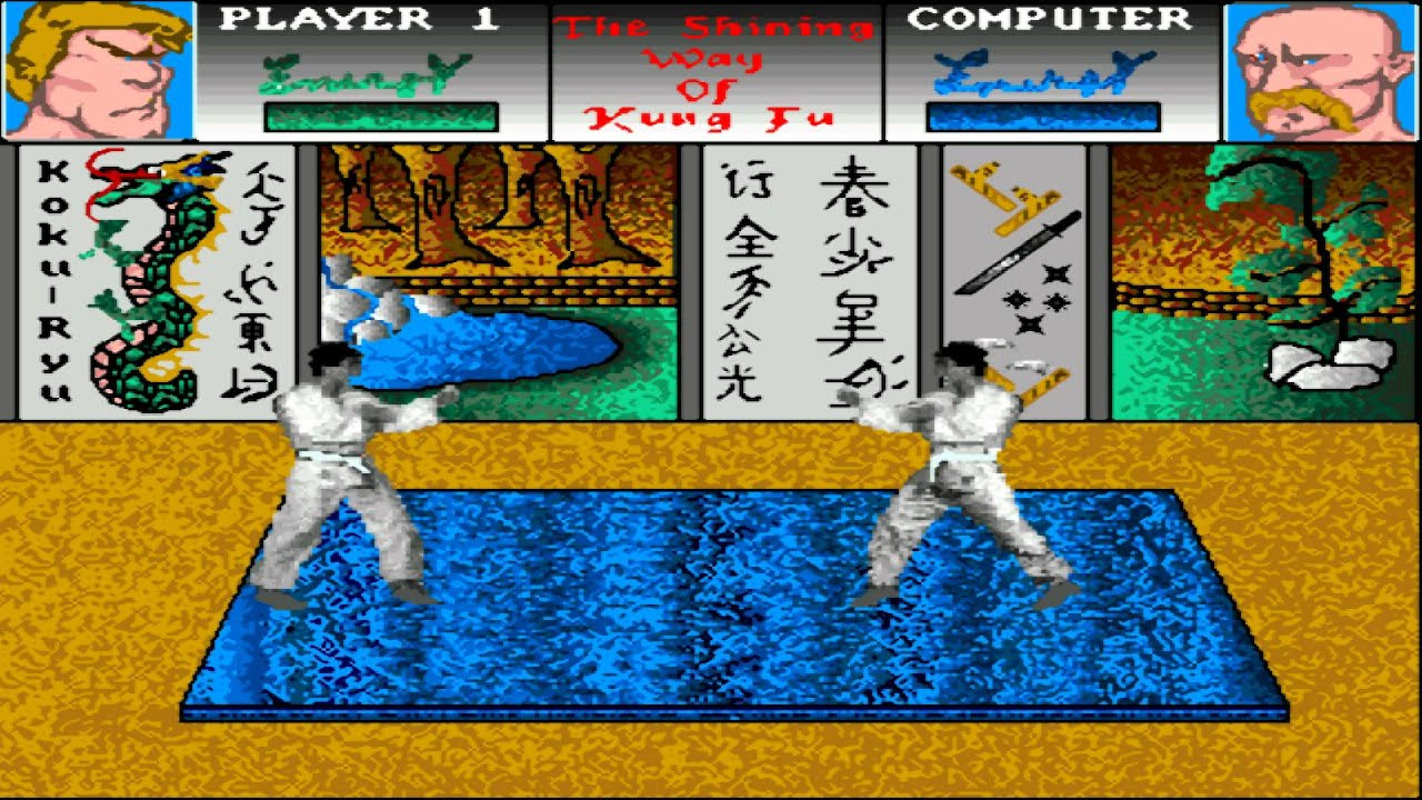 AMIGA The Shining Way of Kung Fu AMIGA OCS 1990 Lindasoft LicenseWare  Italian Disks2 AMOS adf zip
