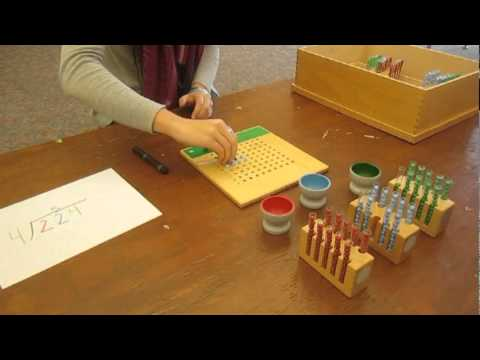"""Bluffview Montessori School: Long Division Using """"Test Tubes"""""""