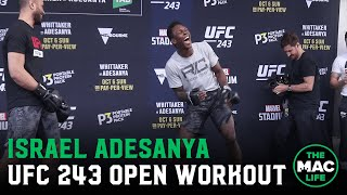 UFC 243 Open Workouts: Israel Adesanya (Full)