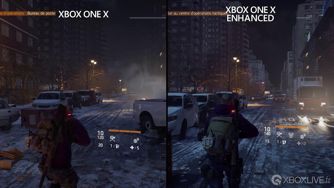 4k the division comparaison graphique en mode optimisé sur xbox
