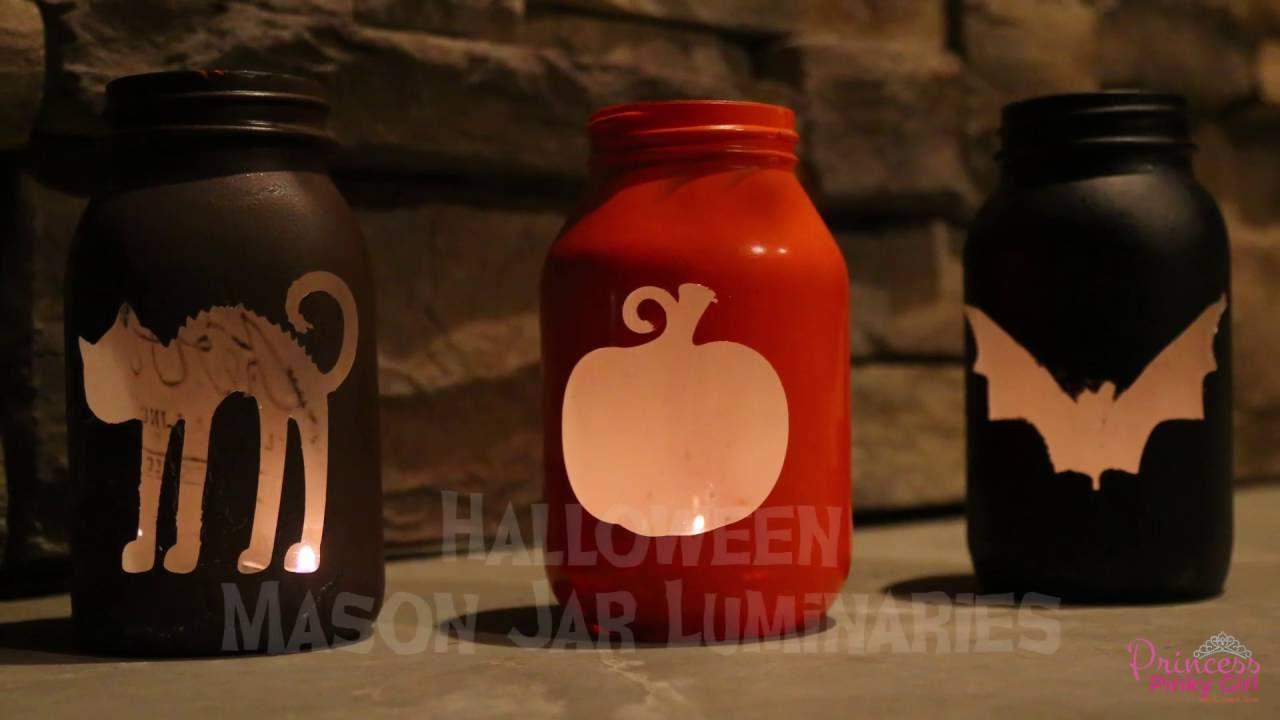 halloween mason jar luminaries - youtube
