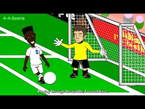 ⚽️SWITZERLAND vs ENGLAND 0-2⚽️ (8.9.14 Euro 2016 qualifier cartoon Welbeck goals)