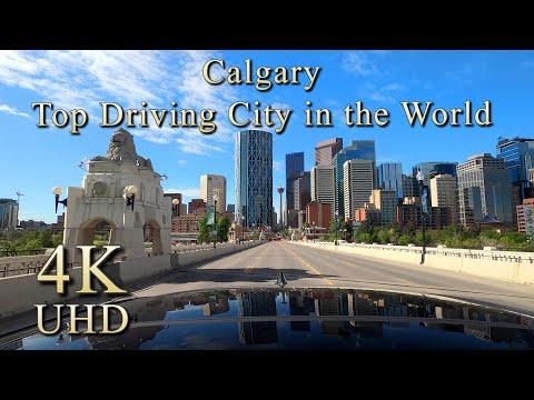 Calgary Top Driving City in the World, Alberta, Canada - 4K Video