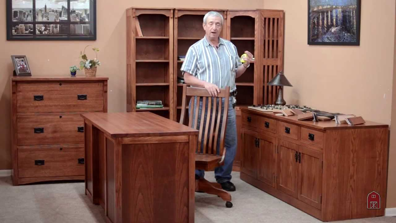 Barn Furniture Mission Office Desks File Cabinets Bookcases Wood Chairs Credenzas You