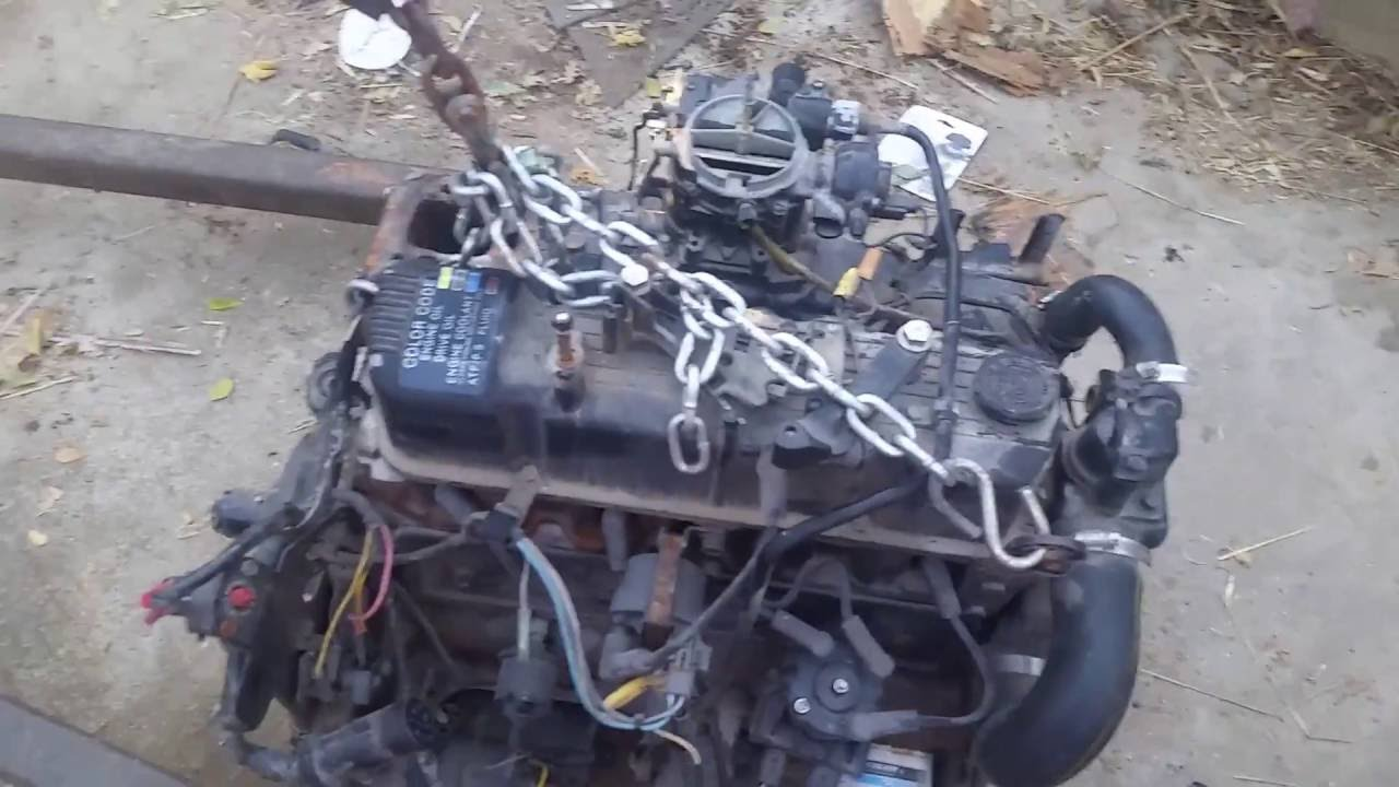Mercruiser 3 0 Liter Engine Removal From 94 Bayliner Youtube