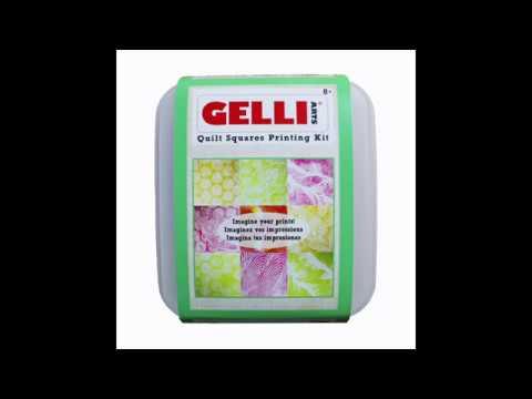 Gelli Arts® Quilt Squares Printing Kit