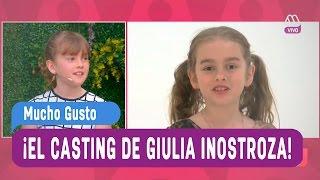 El casting de Giulia Inostroza (Ambar) - Mucho Gusto 2016