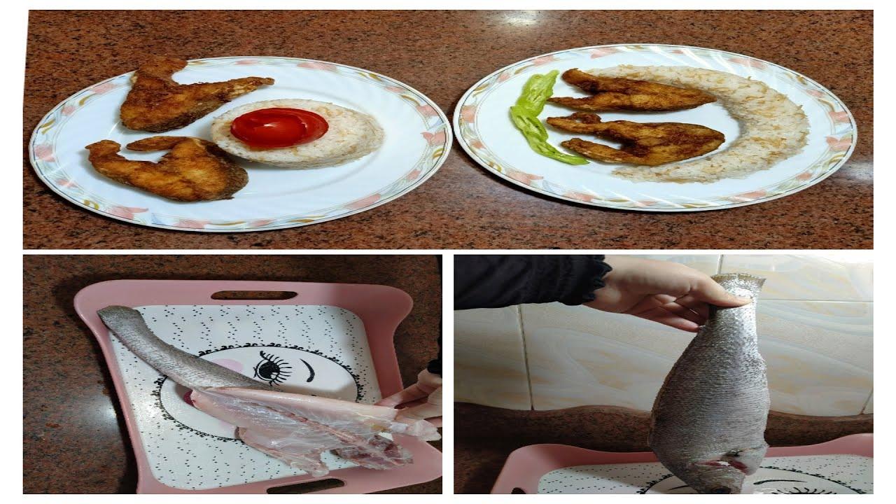 طريقة تنظيف وقلي السمك اللوت بتتبيلة روعة