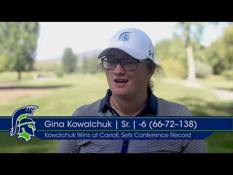 Lady Argo Golfer Gina Kowalchuk Shoots 66 to Break Frontier Conference Record