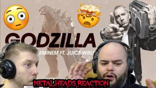 HOLY HELL!! BREATHE  LOL | EMINEM - GODZILLA | METALHEADS REACTION