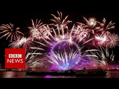 New Year 2018: Fireworks in cities around the world welcome