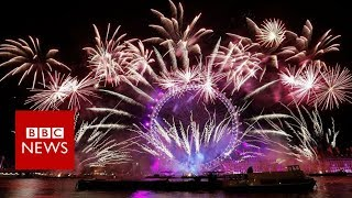 New Year 2018: Fireworks in cities around the world welcome in 2018 - BBC News