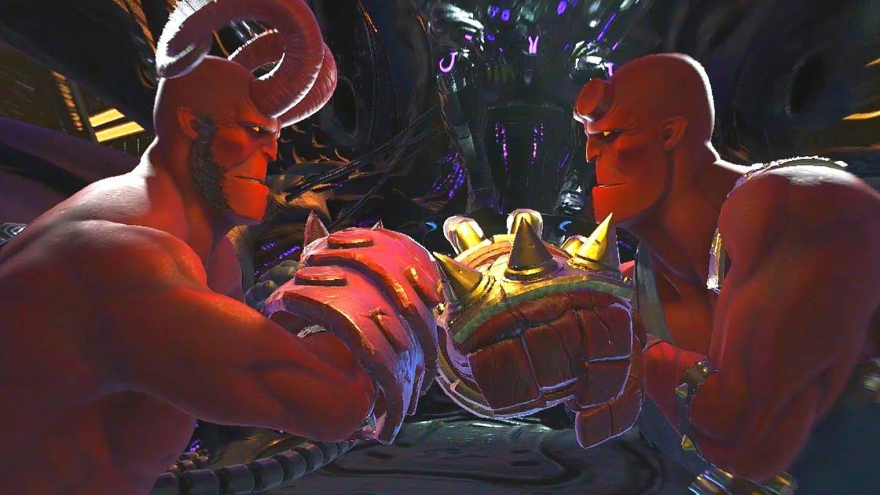 Download Injustice 2 - Hellboy Vs Hellboy All Mirror Intro Dialogue/Clash Quotes, Super Move, Victory Pose
