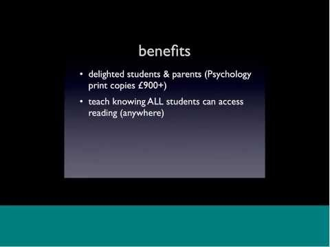 Teaching with eBooks   experiences from the Plymouth University