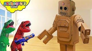 DINOSAURS vs ROBOTS!!