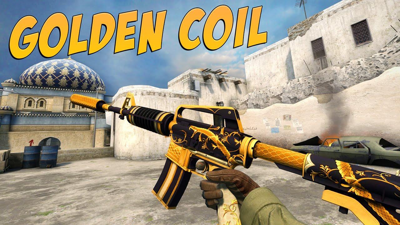 CS:GO - M4A1-S   Golden Coil Gameplay