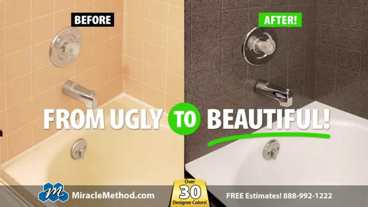 Miracle Method refinishes your ugly tub and tile to look like new ...