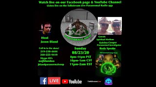 Paranormal Soup Ep 237 guests Katrina Cooper and Rody Speake