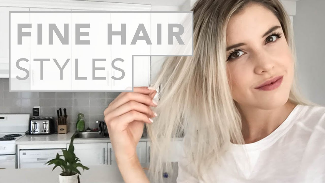 how to style thinning hair women hair hacks for and thin hair 7633 | maxresdefault