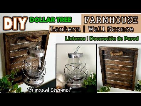 Dollar Tree DIY | Lantern | Wall Sconce | English CC | Linterna y Decoración de Pared