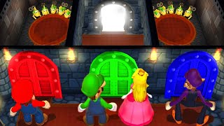 Mario Party 9 MiniGames Peach Vs Mario Vs Luigi Vs Waluigi (Master Difficulty)
