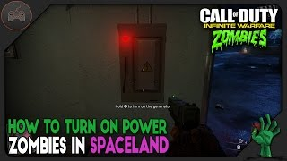 How To Turn The Power On And All Switch Locations | Zombies In Spaceland | IW Zombies Power Tutorial