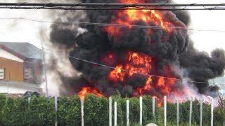 加須市琴寄 資材置場火災 2015 10 5