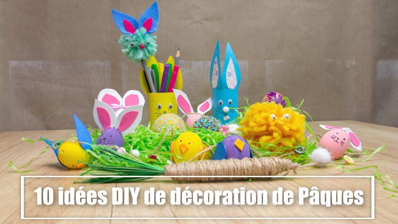 Decoration De Paques A Faire Soi Meme 10 Tutoriels Faciles Youtube