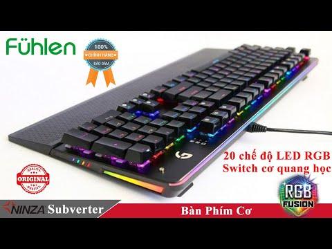 Review bàn phím cơ chính hãng Fuhlen Subverter RGB - Phím bấm bất tử