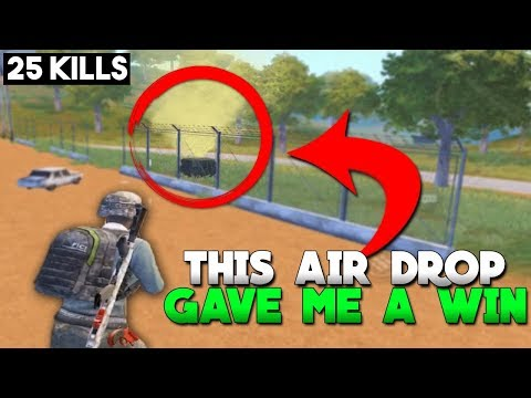 I WON BECAUSE OF THIS AIR DROP! | 25 KILLS |  PUBG Mobile