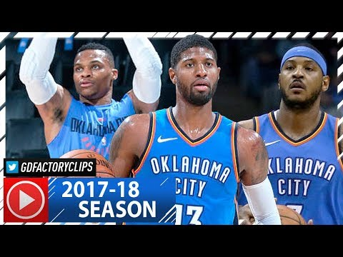Russell Westbrook, Carmelo Anthony & Paul George BIG 3 Highlights vs Celtics (2017.11.03) - STRUGGLE