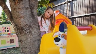 Yulya Pretend Play with Funny Troll toys and PlayHouse
