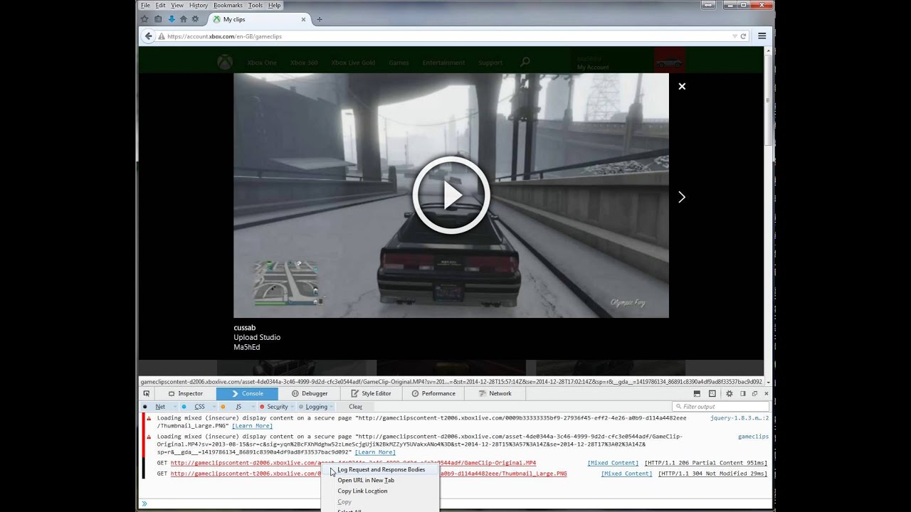 [ Tutorial ] Download Xbox One Video Clips using only Firefox