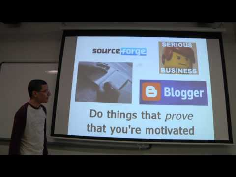 Jan 23 2012, Part 1 - Intro to the Club, and the Importance of Being Driven - UA GameDev Club