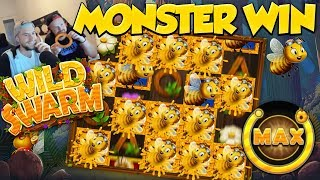 HUGE WIN!! Wild Swarm Bee Game Big Win - Casino Games - (HYDE EXPLODE)
