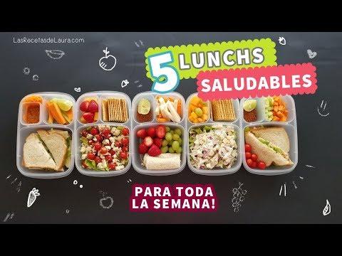 5 Ideas de Lunch para niños FÁCIL y Rápido | Back to School Lunch Ideas ❤ Recetas Saludables