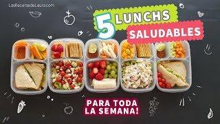 5 Ideas de Lunch para niños FÁCIL y Rápido   Back to School Lunch Ideas ❤ Recetas Saludables