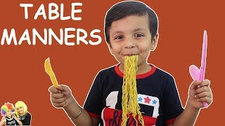 TABLE MANNERS FOR KIDS | EATING HABITS | FOOD HABITS | Vegetable Video