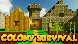 MINECRAFT + BANISHED? - Colony Survival Gameplay #1