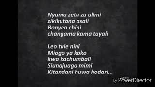 Mbosso - Alele Karaoke Lyrics & Beat (Official Video)