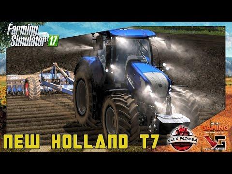 NEW HOLLAND T7 BLUE POWER | LED LIGHT - FULL ANIMATION | FARMIING SIMULATOR 17