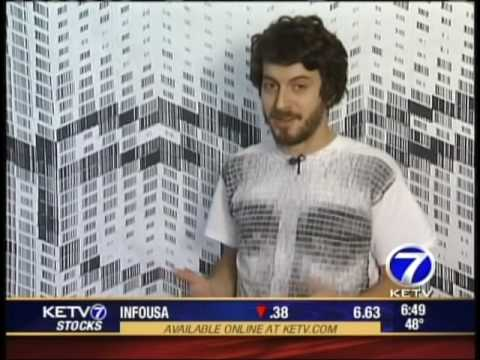 Barcode Art on KETV Channel 7 News in Omaha, 2009
