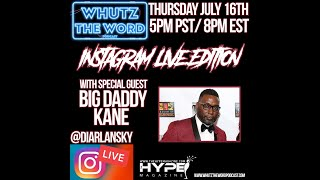 Diar Lansky Interviews Big Daddy Kane On Instagram Live.