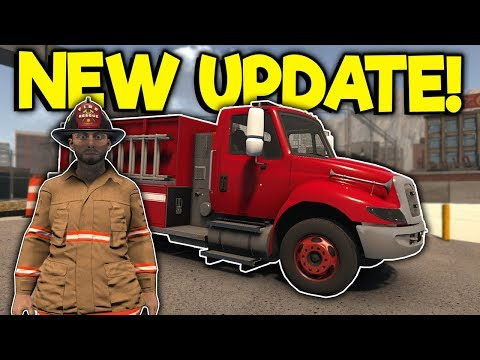 Bad Firefighters Check Out the NEW Fire Truck! - Flashing Lights Multiplayer Update