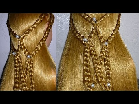 Schöne & einfache Frisuren: Alltag/Schule/Uni/Arbeit/Freizeit. Quick Braid Hairstyle.Peinados