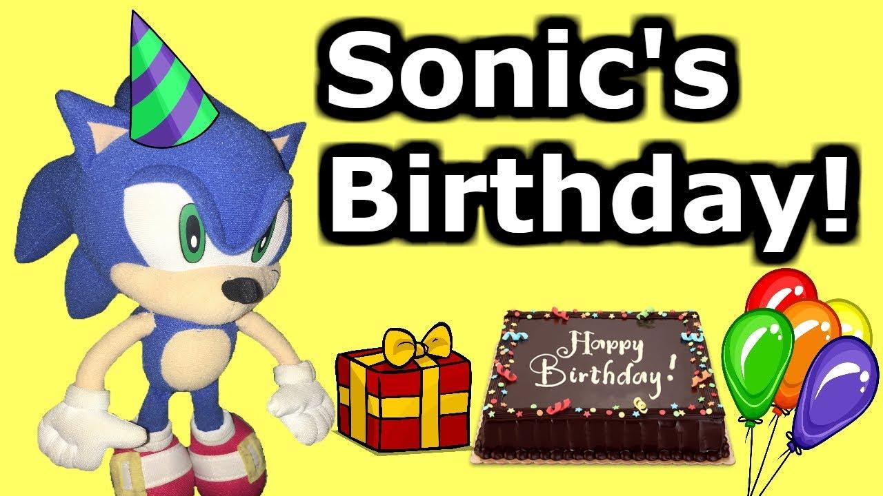 Sonic Plush Adventures Sonic S Birthday Youtube