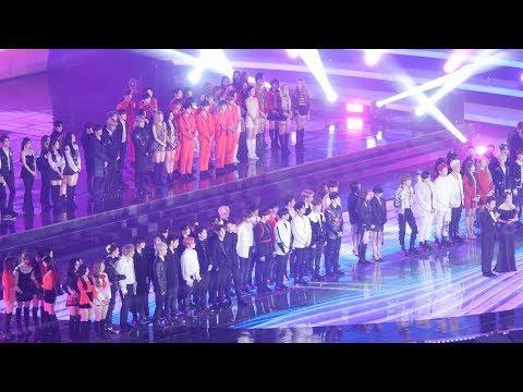 181225 블랙핑크(BLACKPINK),방탄소년단(BTS),엑소(EXO),레드벨벳(Red Velvet),트와이스(TWICE) 전출연진 오프닝 [4K] 직캠(가요대전)by Mera